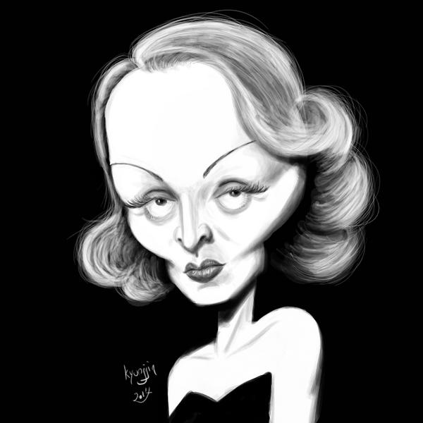caricature de Marlène Dietrich