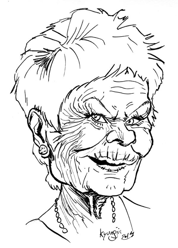 Judi Dench caricature