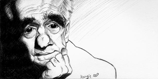 caricature de Martin Scorsese