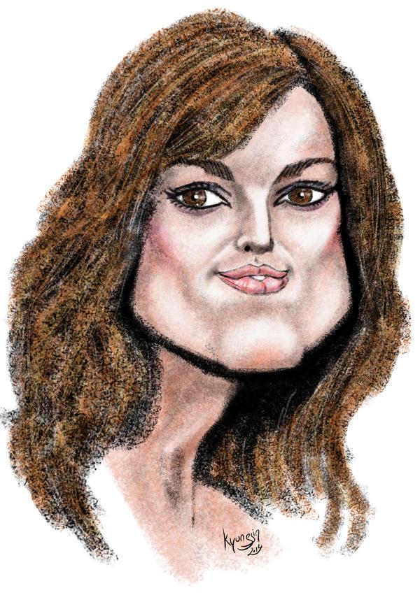 caricature de Keira Knightley