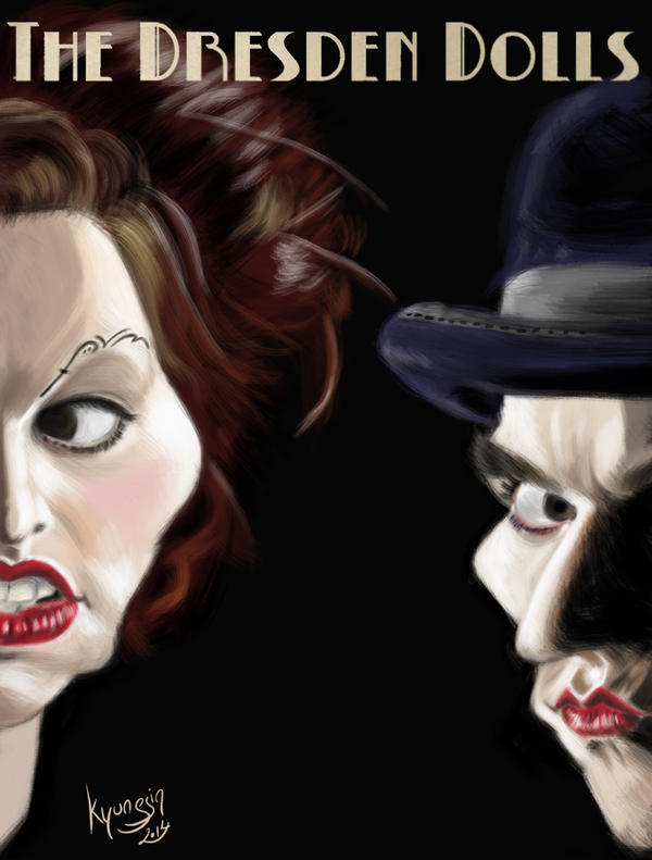 The Dresden Dolls caricature