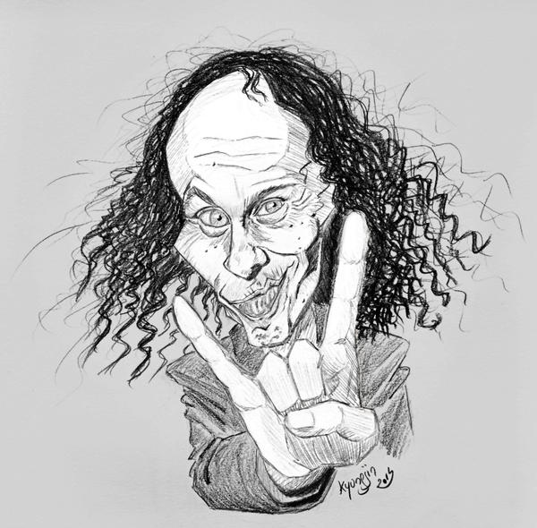 Ronnie James Dio caricature