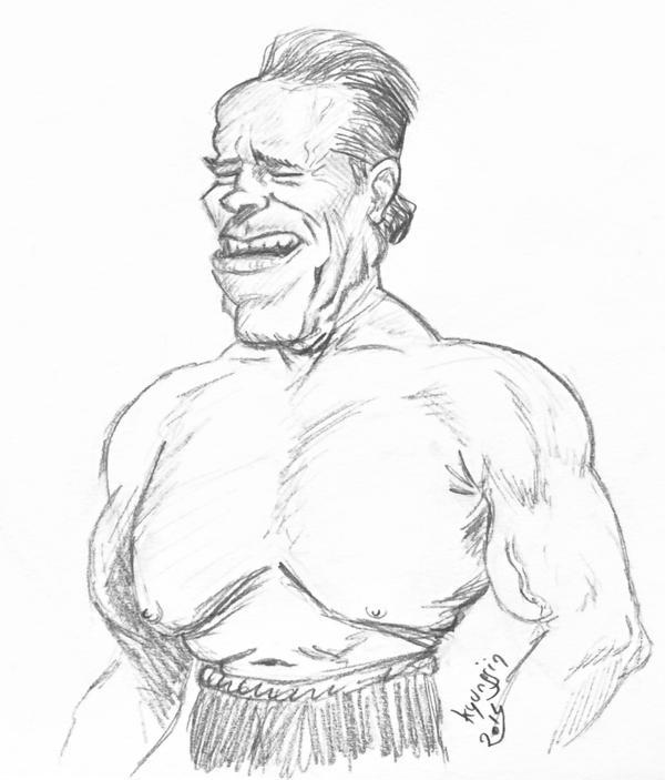 caricature Arnold Scwarzenegger
