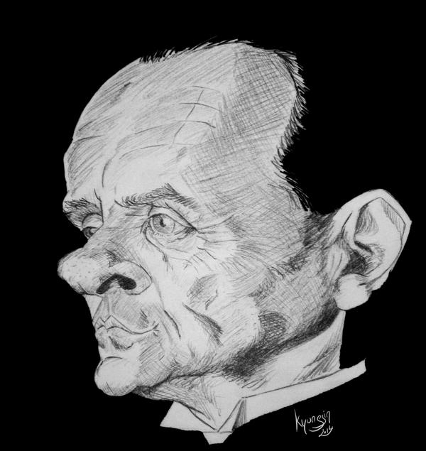 Anthony Hopkins caricature