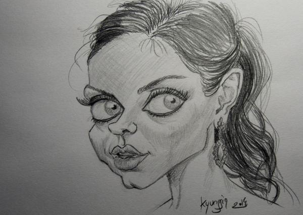 Mila Kunis caricature