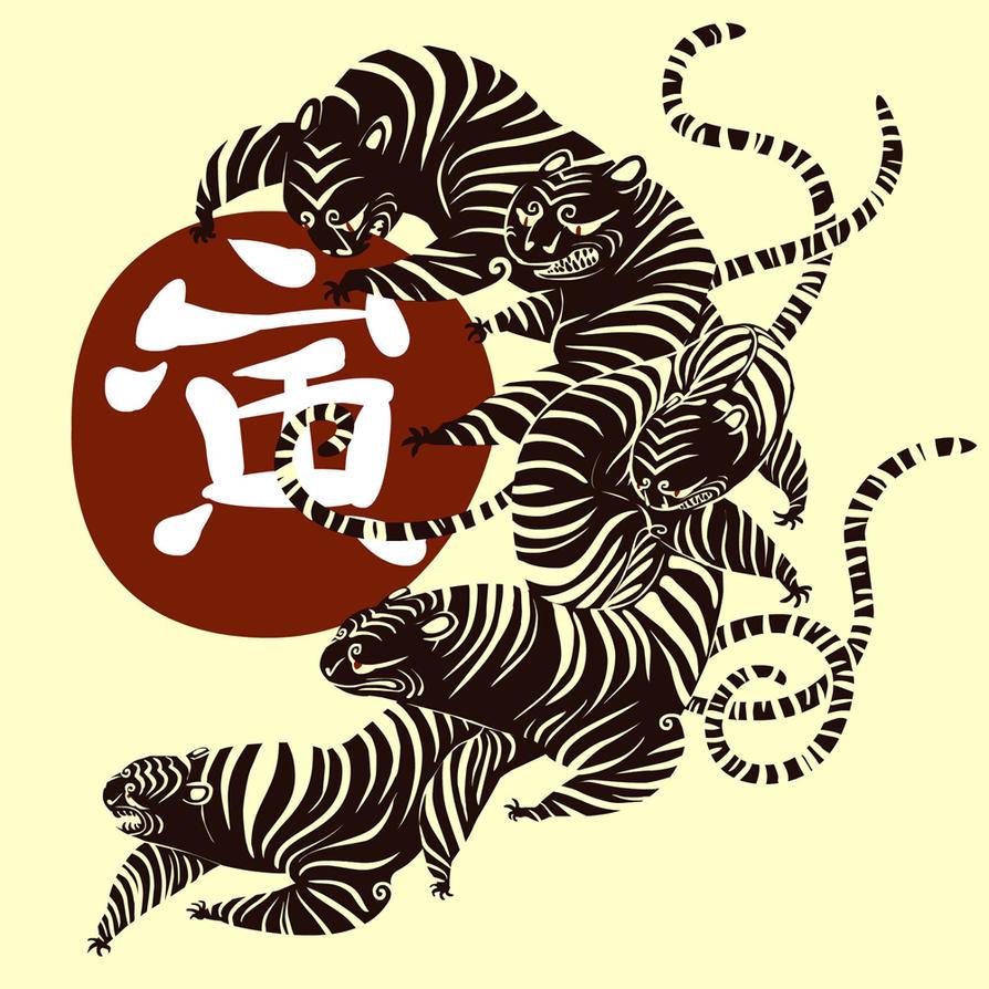 Tigers by okavango