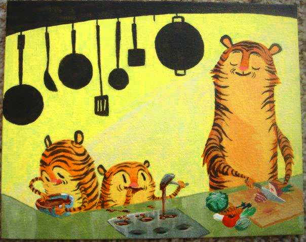 tiger cupcakes by okavango