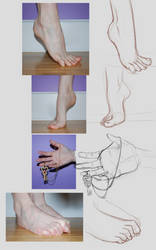 Sketching Feet and Hands... by NollieMai