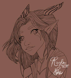 Rayla - TDP (lineart) by NollieMai