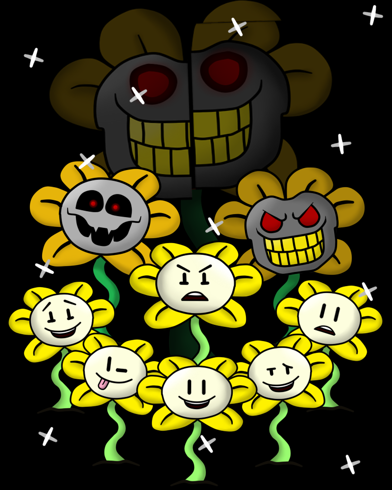 Undertale: Flowey Expressions (Caution Nightmare) By