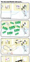 Mxls Comic: The only sound Slumbo wake up too...
