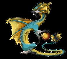 Sun-Frill Dragon (Male) by jeweledphoenix