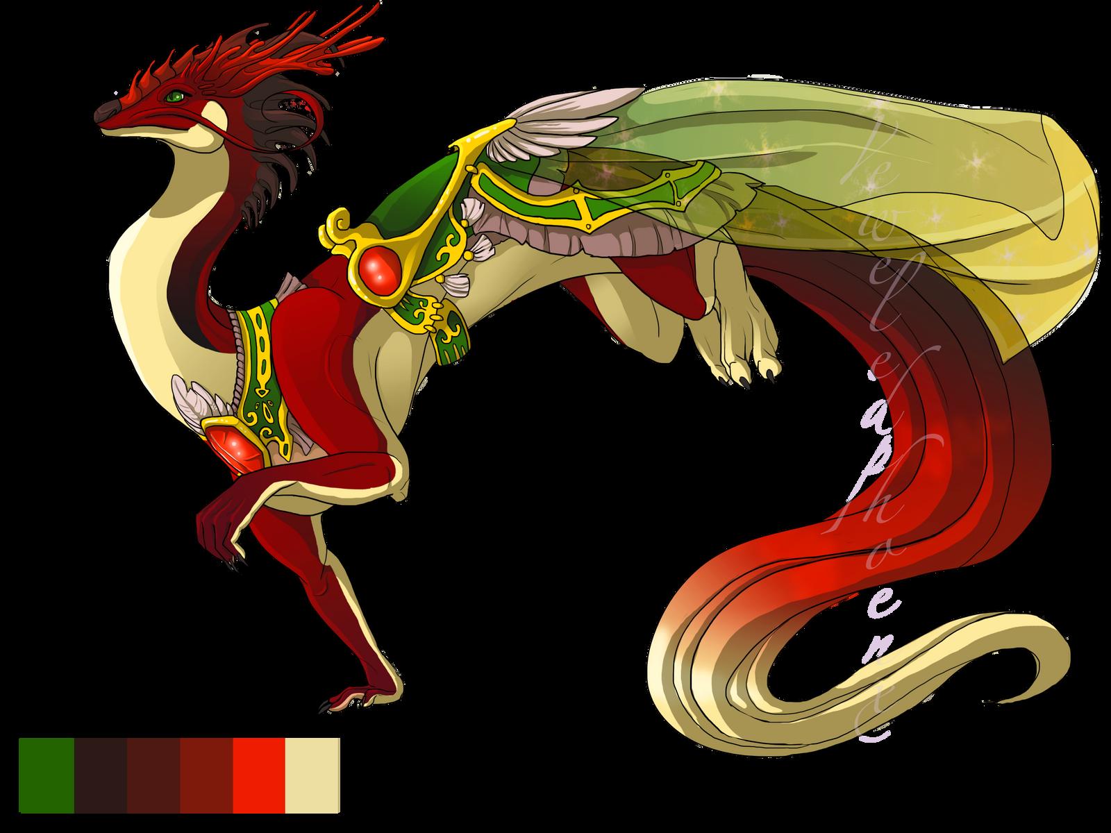 Birthstone Dragon 001: Garnet