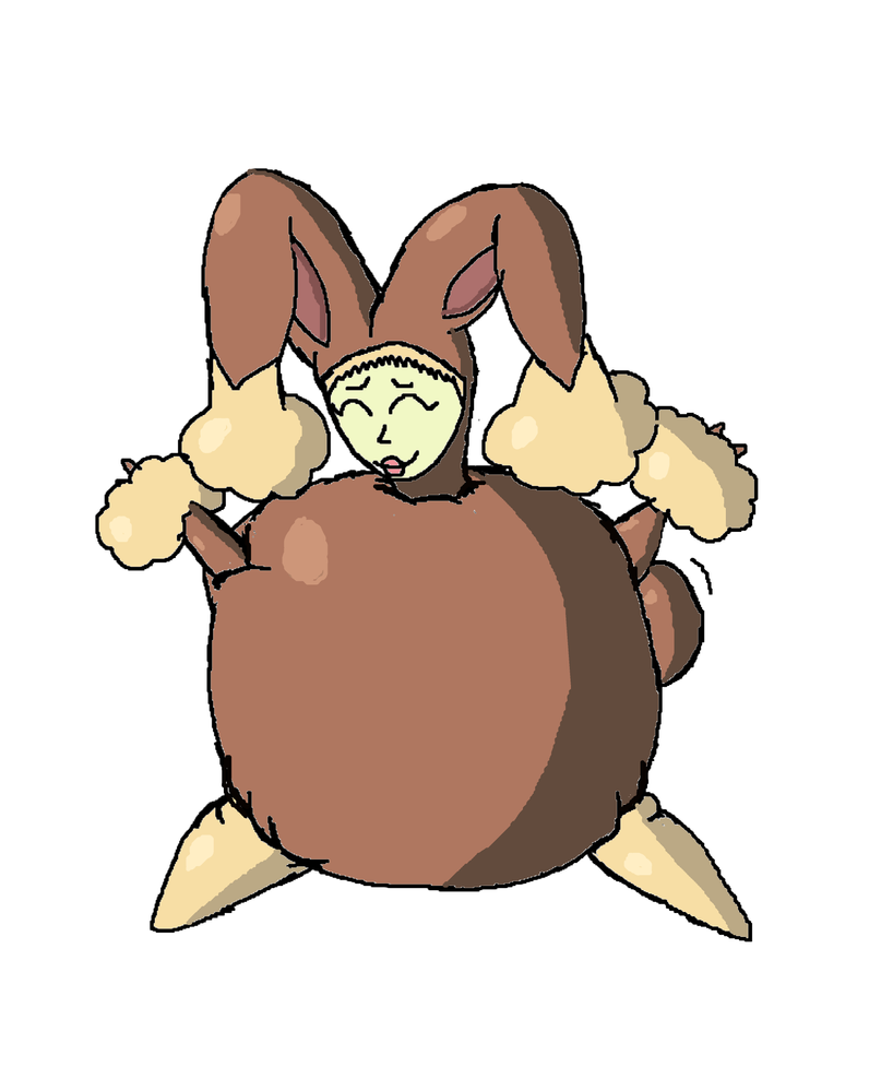 Lopunny Costume Inflated By Lollie Splosion On Deviantart