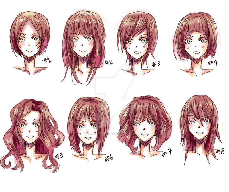 Manga Female Hair Templates By AlphaBlackAce