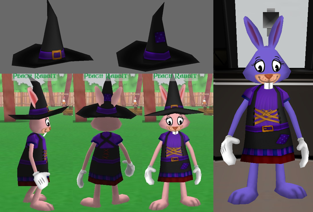 Toonown Rewritten Halloween 2020 Toontown Rewritten Witch Costume Texture by SleepyMaya on DeviantArt
