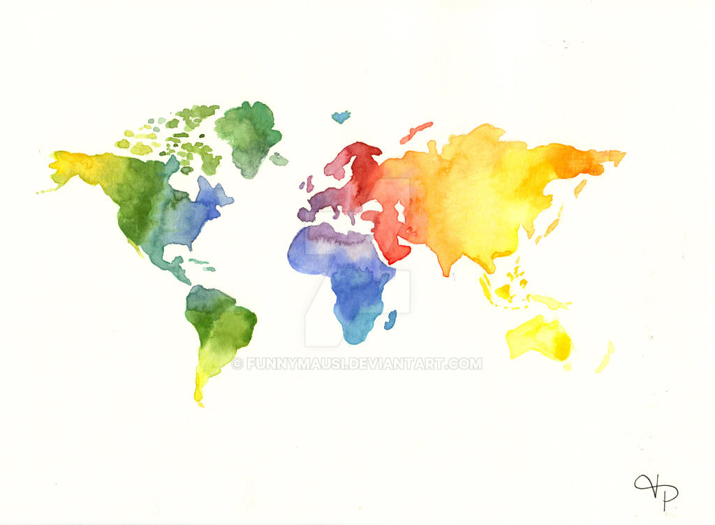watercolor map by FunnyMausi on DeviantArt