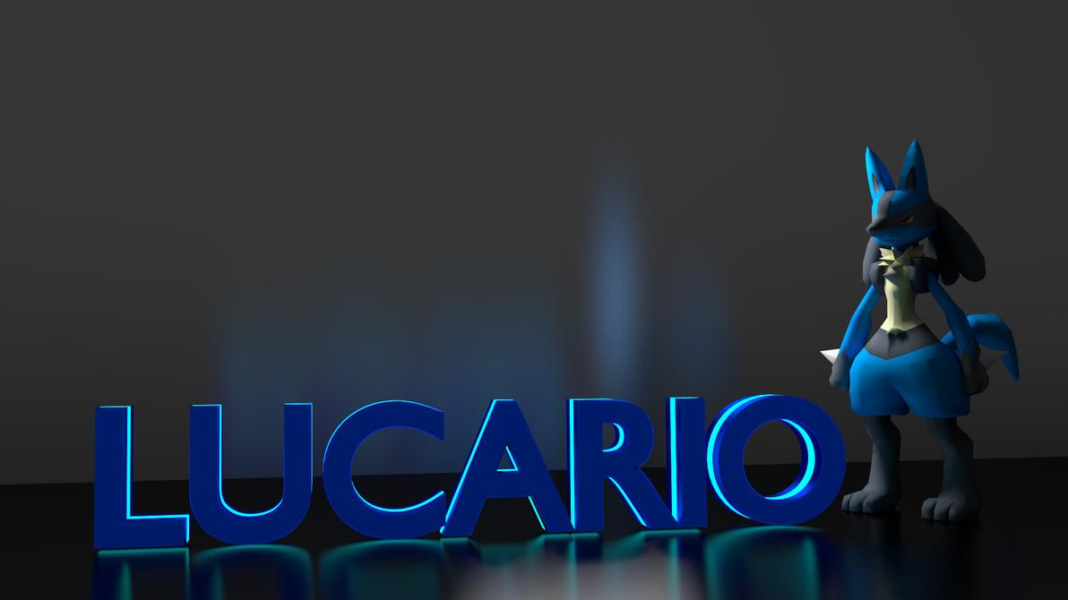 Lucario wallpaper 3d model by themoderator on deviantart - Lucario wallpaper ...