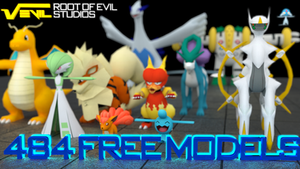 484 Free Pokemon 3D Models (+ Shinys!) [DOWNLOAD]