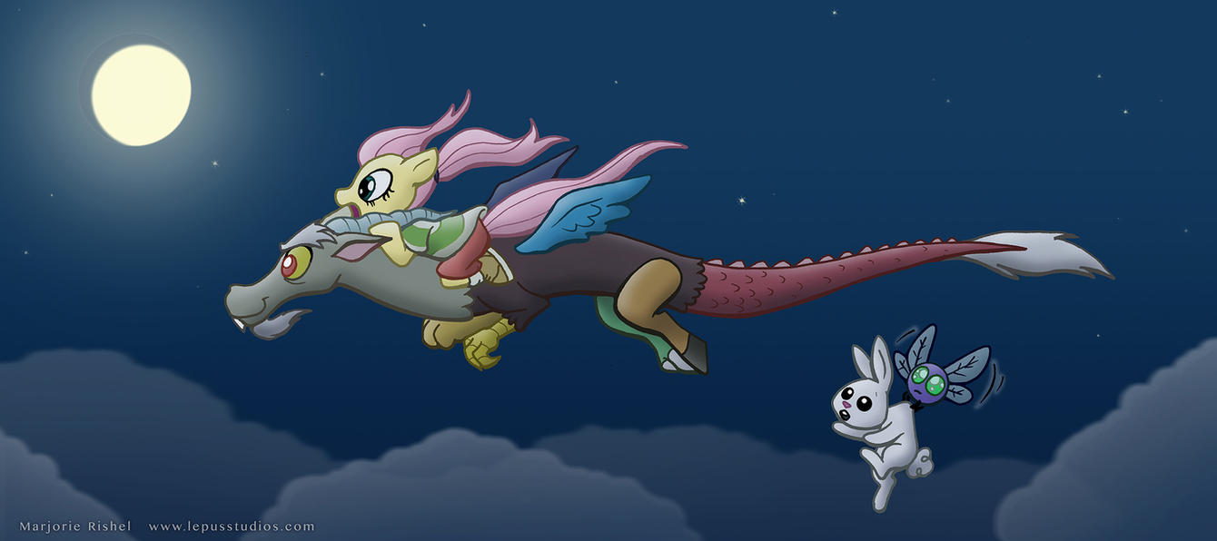Spirited Away Fluttershy by Lepus-Marj