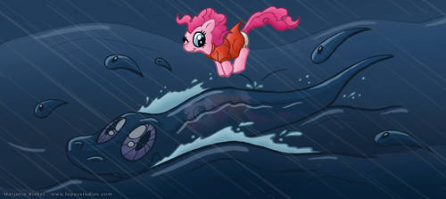 Pony on the Cliff by the Sea by Lepus-Marj