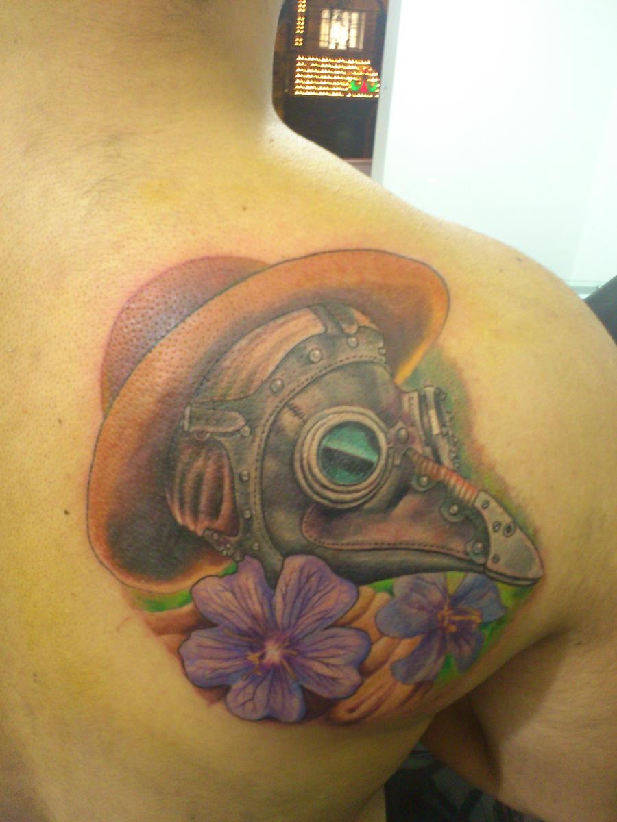 Plague doctor tattoo by lueszu on deviantart for Plague doctor tattoo