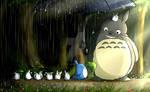 Totoro's Stroll in the Rain