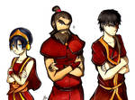 Toph, Zuko, and WANG FIRE: Commission