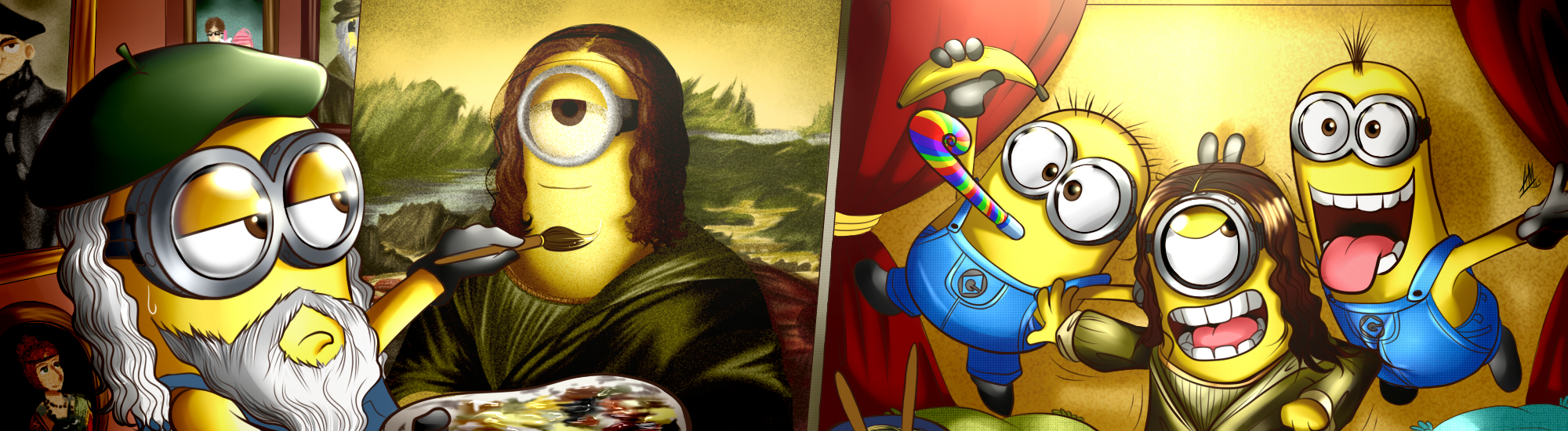 Painting The Mona Minion