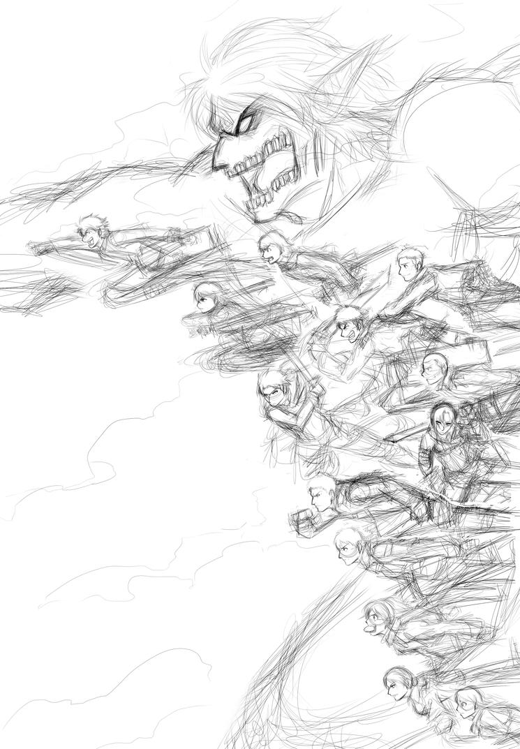 Attack On Titan Wip by Smudgeandfrank