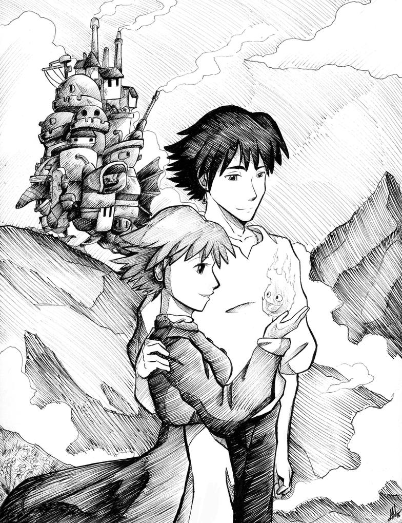 Commission: Howl's Moving Castle by Smudgeandfrank