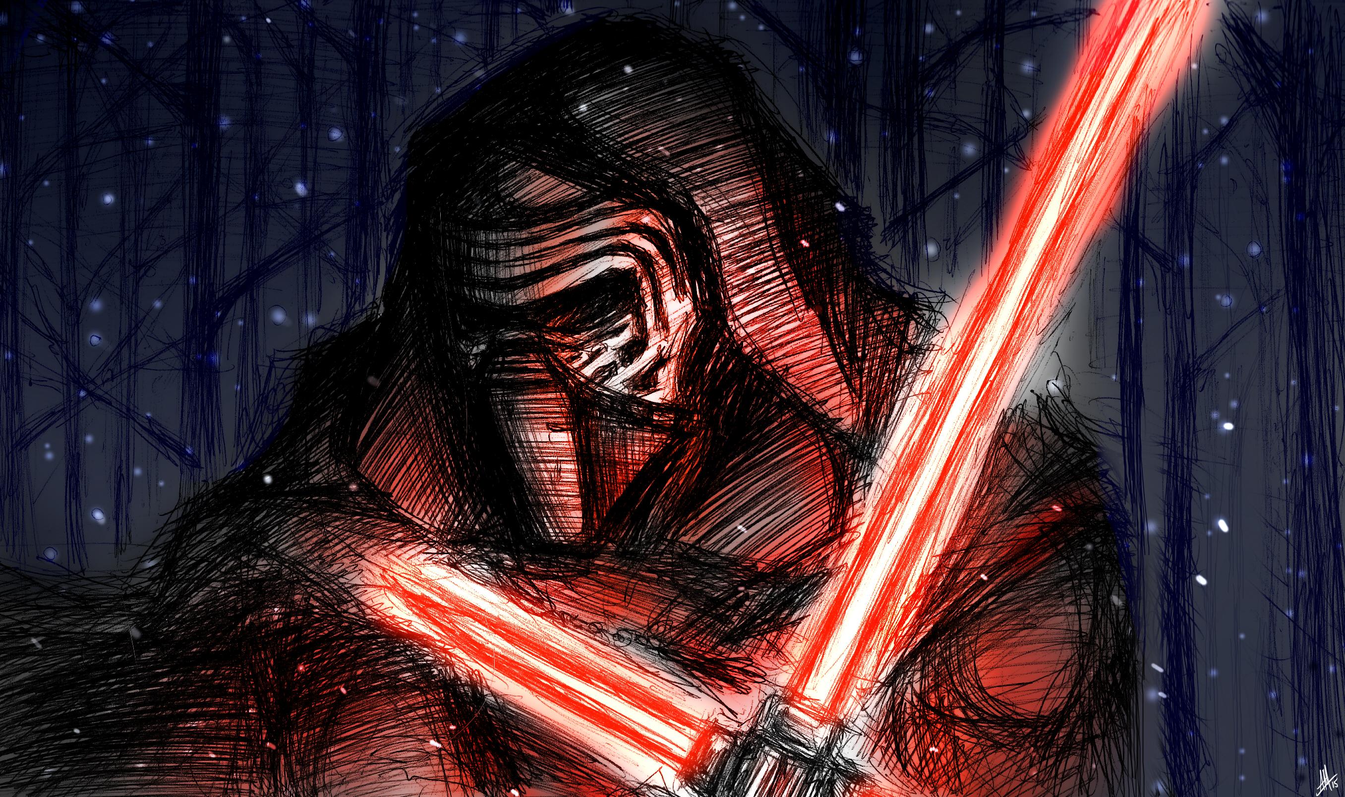 Kylo Ren: Star Wars the Force Awakens by Smudgeandfrank