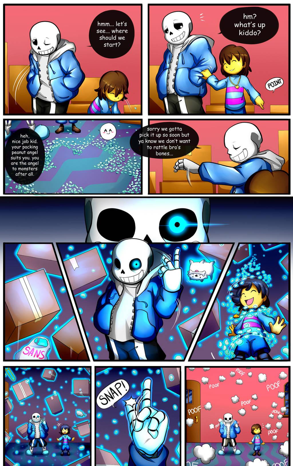 Reminiscence: Undertale Fan Comic Pg. 2 by Smudgeandfrank
