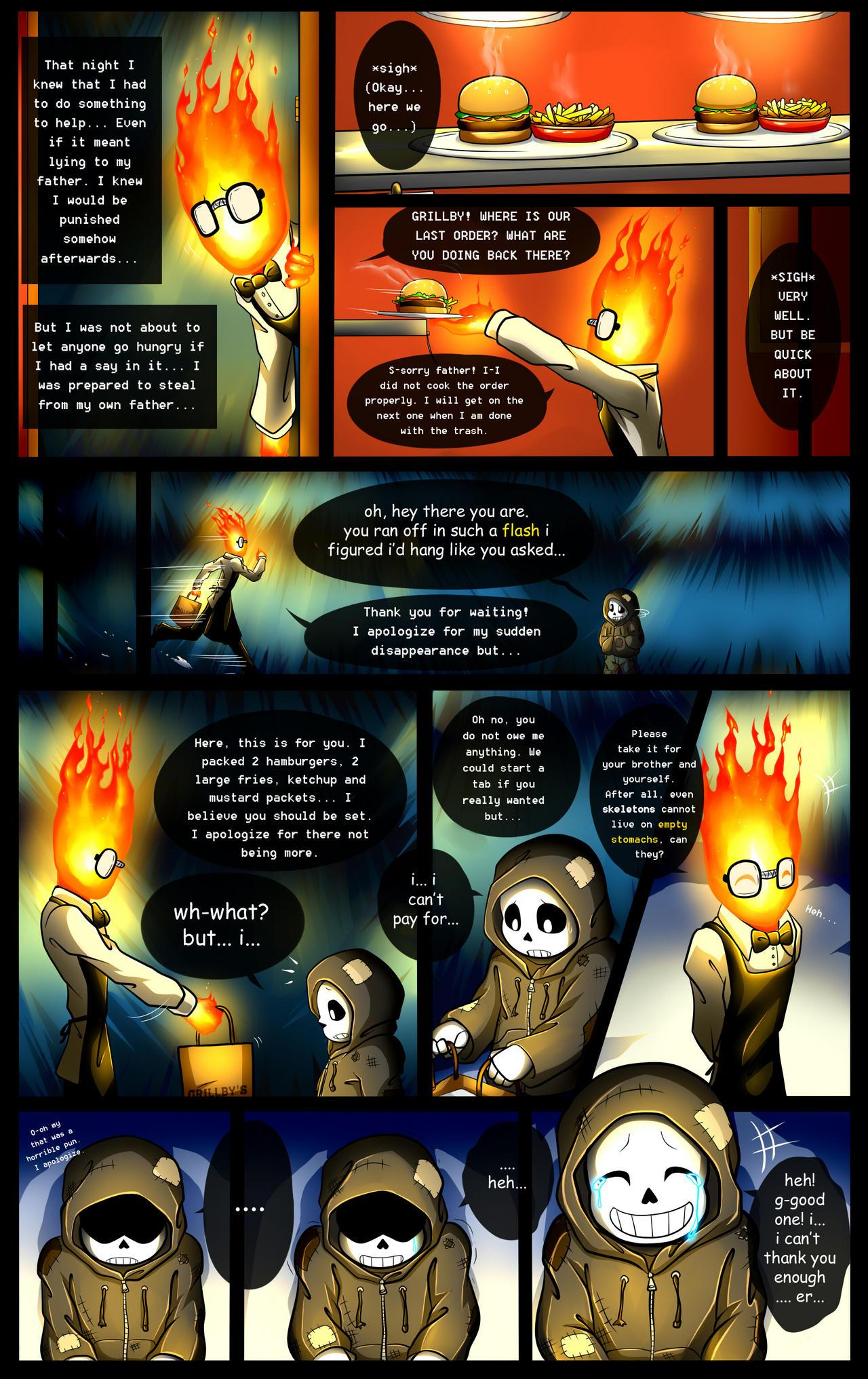 Reminiscence: Undertale Fan Comic Pg. 9 by Smudgeandfrank