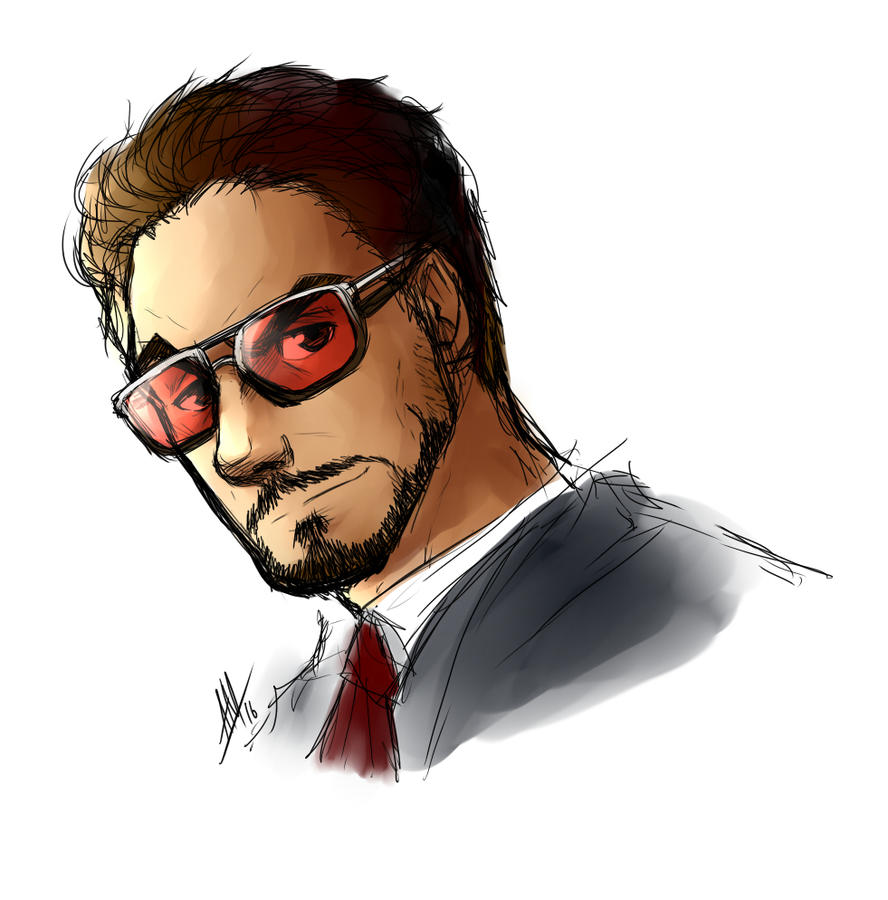Tony Stark Sketch 609556975 on lemon cartoon character