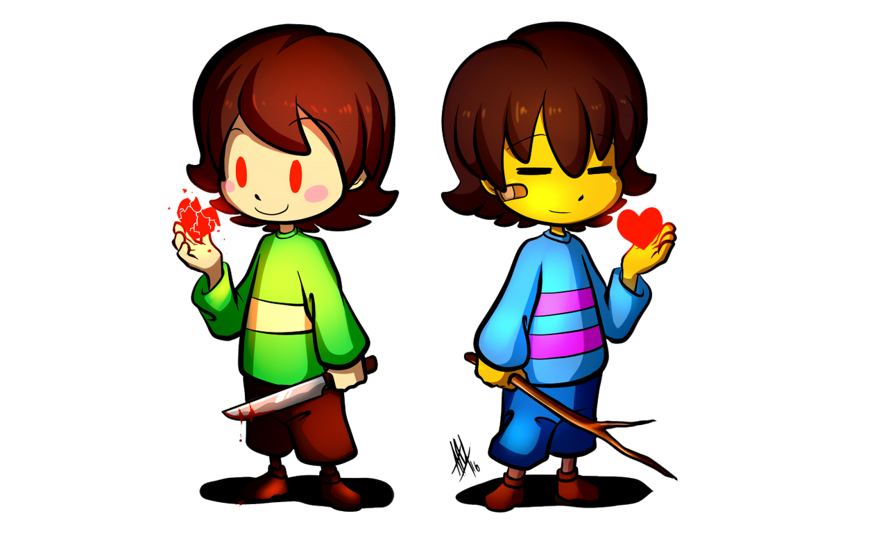 Let's Draw Frisk + Chara (Speed Drawing Video)
