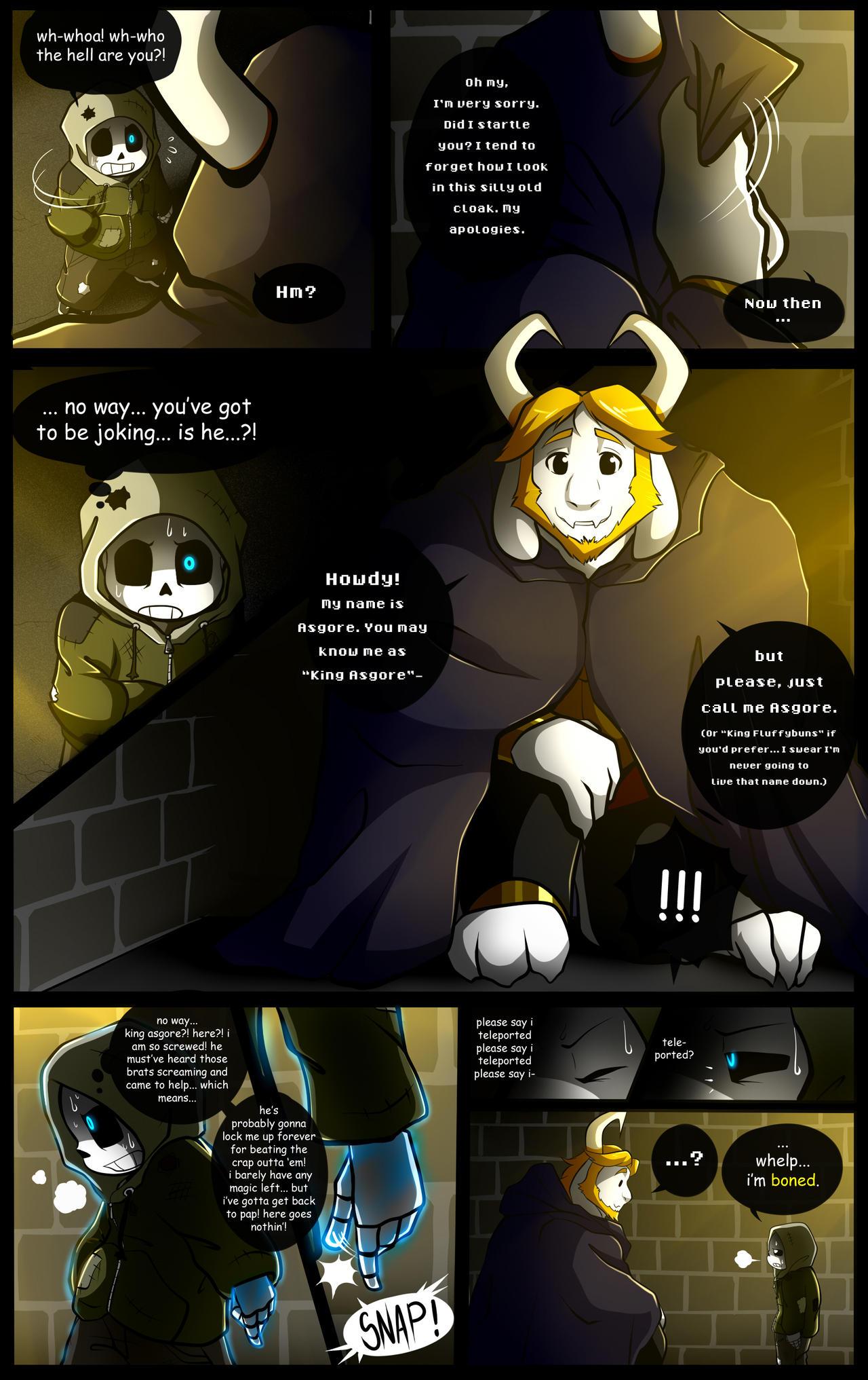 Reminiscence: Undertale Fan Comic Pg. 24 by Smudgeandfrank