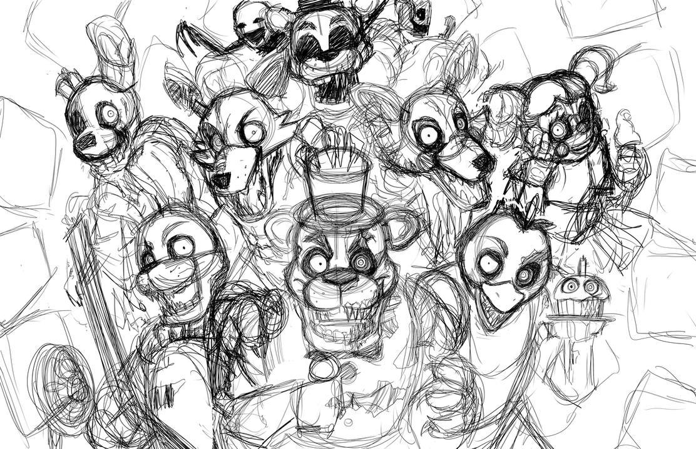 Five Nights At Freddys Night 1 Sketch SPEEDPAINT By Smudgeandfrank