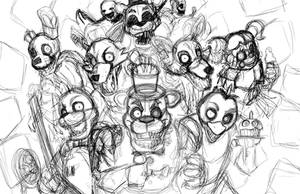 Five Nights At Freddy's Night 1: Sketch SPEEDPAINT by Smudgeandfrank