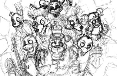 Five Nights At Freddy's Night 1: Sketch SPEEDPAINT by Smudgeandfrank
