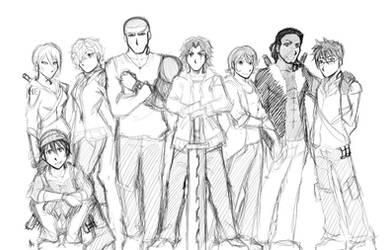 Original Character Cast: F.R.E.E. by Smudgeandfrank