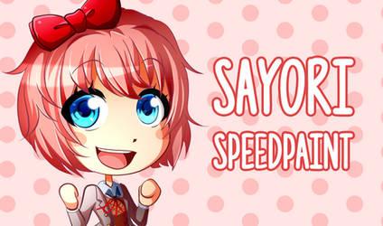Sayori Speedpaint (VIDEO IN DESCRIPTION) by Smudgeandfrank