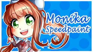 Doki Doki Literature Club: Monika (SPEEDPAINT)
