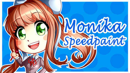 Doki Doki Literature Club: Monika (SPEEDPAINT) by Smudgeandfrank