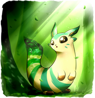 Leafrret (Pokemon Fusion SPEEDPAINT VIDEO) by Smudgeandfrank
