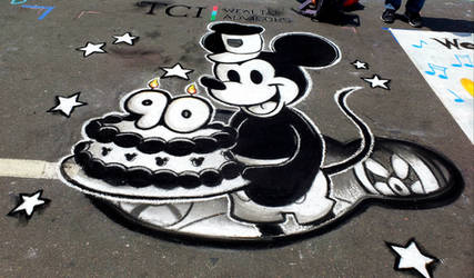 Mickey Mouse Chalk Art