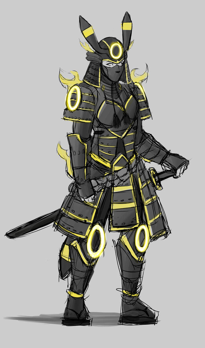 Umbreon Samurai Cosplay Design by Smudgeandfrank