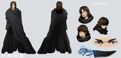 F.R.E.E. Fenris Character Reference by Smudgeandfrank