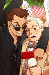 Good Omens: Aziraphale x Crowley Print PRE-ORDER