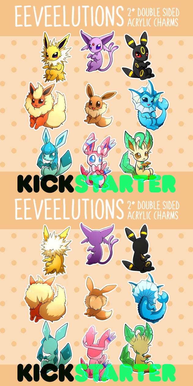 EEVEELUTION CHARMS on Kickstarter! (LINK IN DESCR)